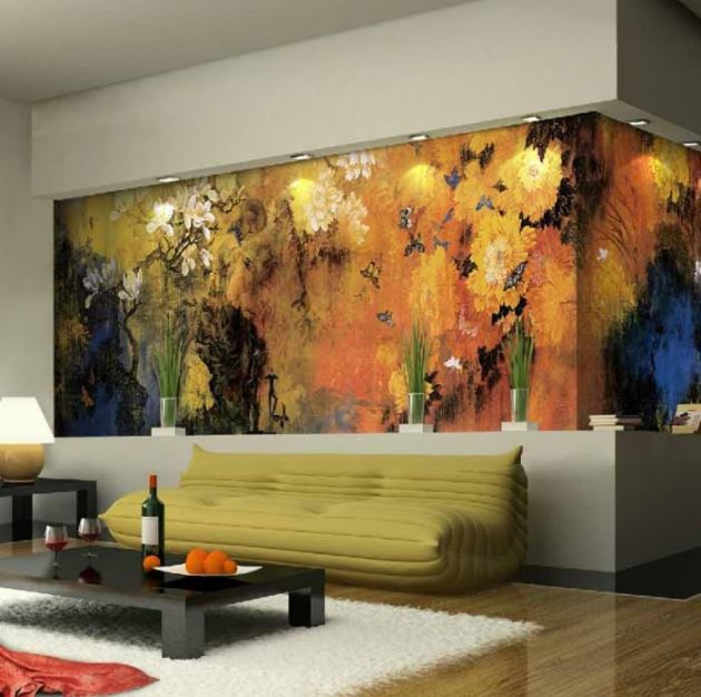 About: Floral Wall Mural: Perfectly Addition To Any Living Room