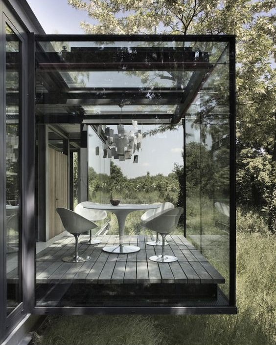 16 Functional Enclosed Glass Terraces To Enjoy Every Weather Conditions