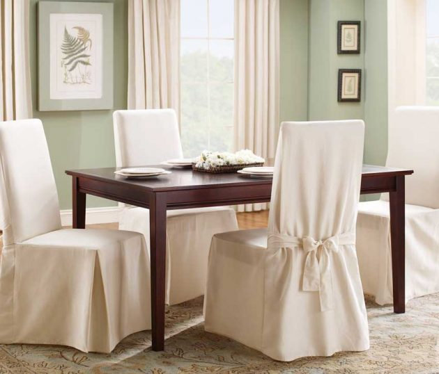 18 Lovely Chair Cover Designs To Refresh The Look Of Every Dining Room