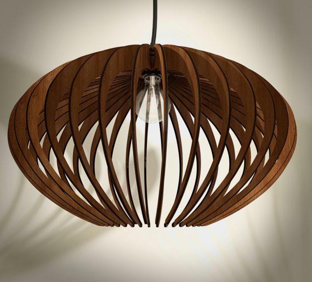Bent Wood Lamp