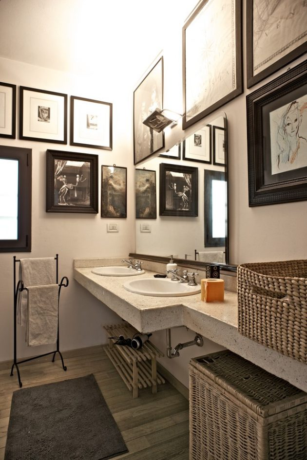 22 Eclectic Ideas Of Bathroom Wall Decor: 15 Magnificent Eclectic Bathroom Designs That Are Full Of
