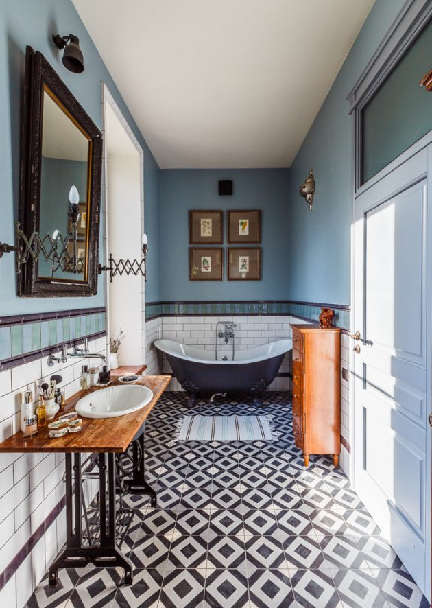 15 Magnificent Eclectic Bathroom Designs That Are Full Of ... on Small:e_D8Ihxdoce= Bathroom Ideas  id=22186