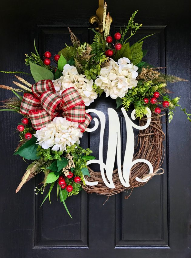 Simple Front Door Wreath