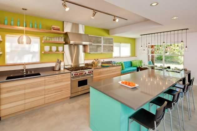 20 Extravagant Examples Of Colorful Kitchens That Will Delight You