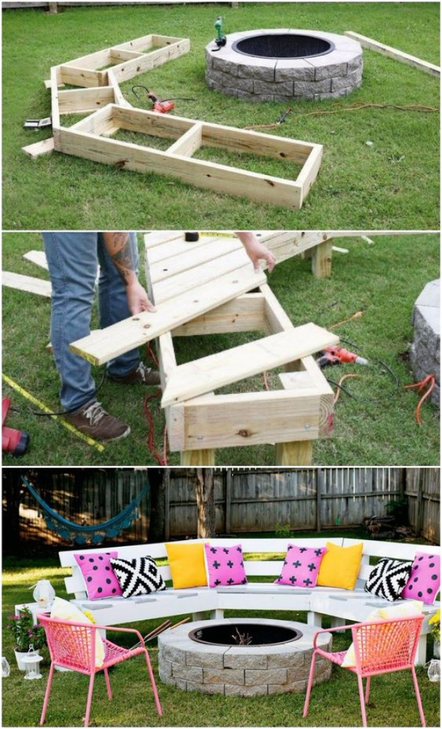 Image of: 16 Incredible Diy Ideas For Outdoor Fire Pit And Fireplace