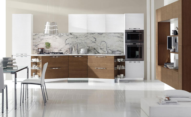 20 irresistible white kitchen designs with use of wood for for Rivestimenti cucina moderna pannelli