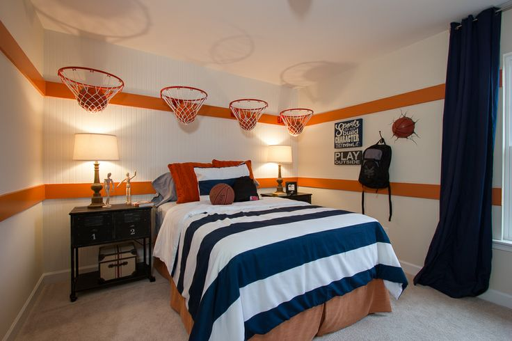 17 inspirational ideas for decorating basketball themed kids room. Black Bedroom Furniture Sets. Home Design Ideas