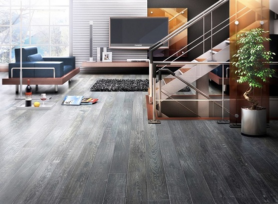 Grey Wooden Floor  Necessary Addition To Every Modern Home