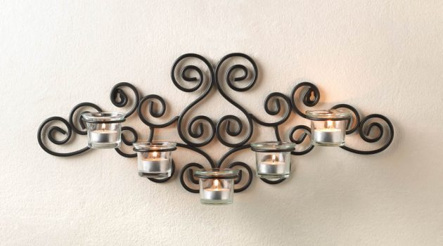 Wrought Iron Candle Holders- Beautiful Decoration For The Walls In Every Home Style