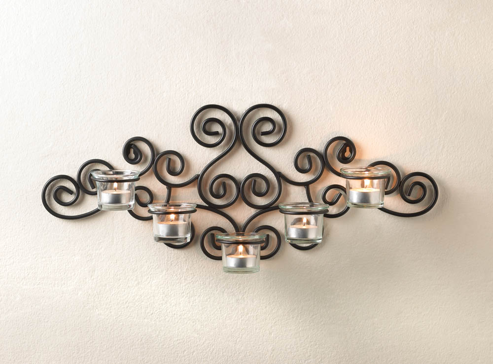 Wrought Iron Candle Holders- Beautiful Decoration For The Walls In