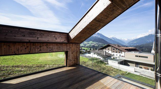 Transparent House In Patsch, Tyrol, Austria