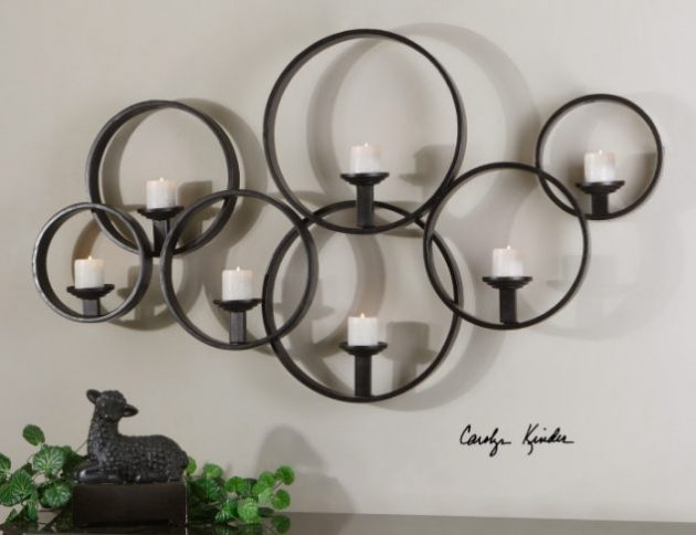Wrought Iron Candle Holders Beautiful Decoration For The Walls In Every Home Style