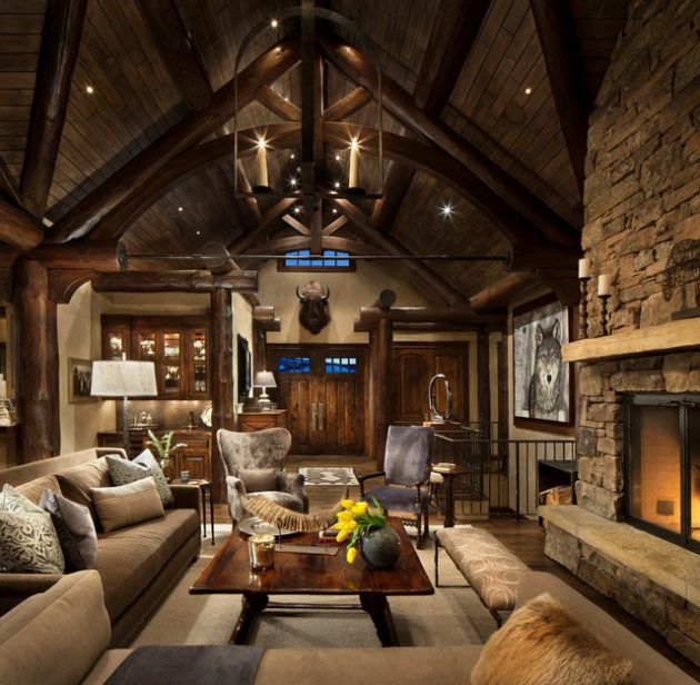 Interior Design Home Decorating Ideas: 16 Glamorous Chalet Living Room Designs That Wows