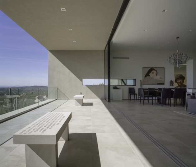 House in Sabino Springs by Kevin B Howard Architects in Tucson, Arizona