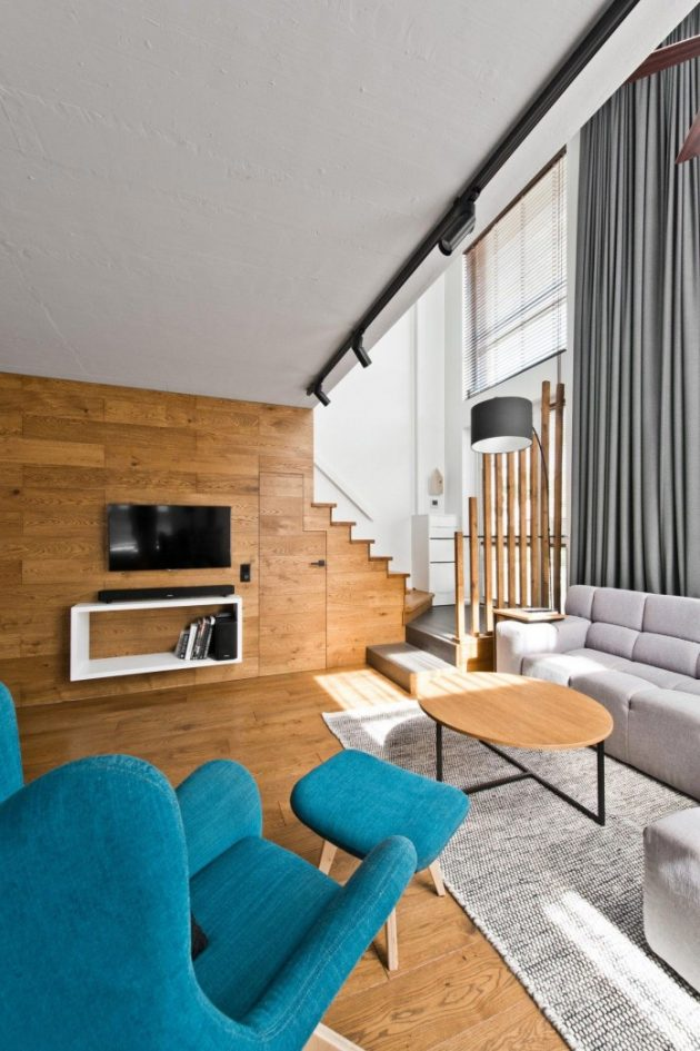 Modern Scandinavian Loft Interior by InArch in Vilnius, Lithuania
