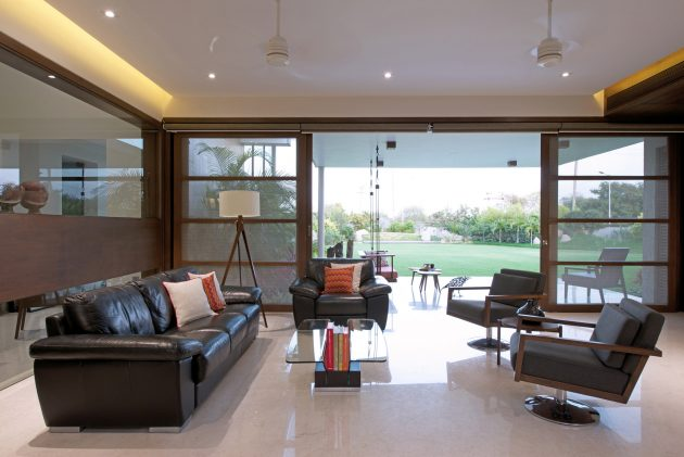 Urbane House by Hiren Patel Architects in Ahmedabad, India