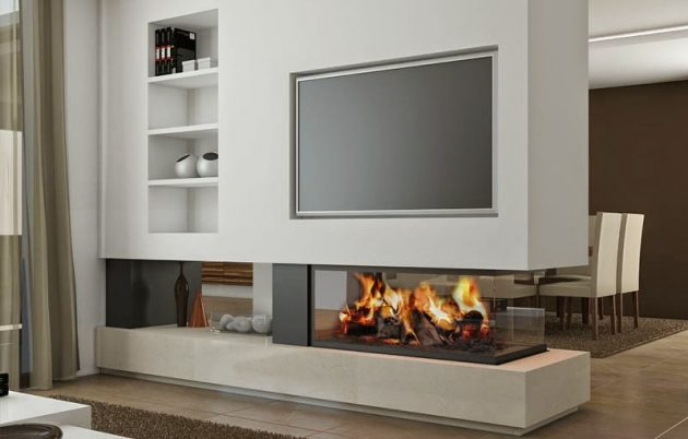 Contemporary Fireplace Real Masterpiece To Adorn Your Living Space
