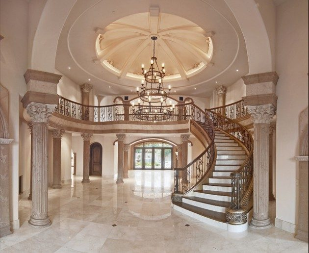 Entrance Foyer And Circulation In House : Excellent ideas for decorating entrance staircase with