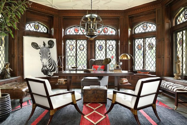 15 Motivational Eclectic Home Office Designs Youll Want To Work In