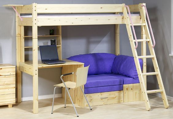 19 Super Functional Bunk Beds With Desk For Small Spaces