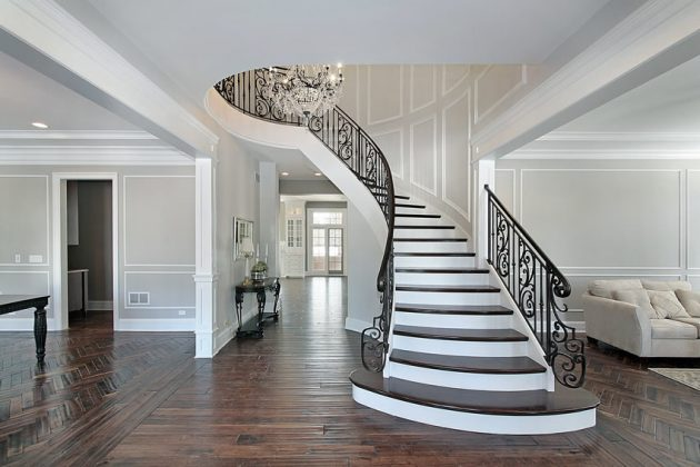 19 Excellent Ideas For Decorating Entrance Staircase With Luxury Touch