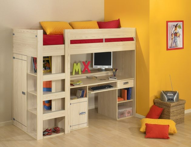 19 Super Functional Bunk Beds With Desk For Small Es