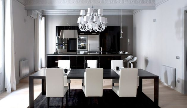 Timeless Black & White Dining Room Designs For Glamorous Ambiance
