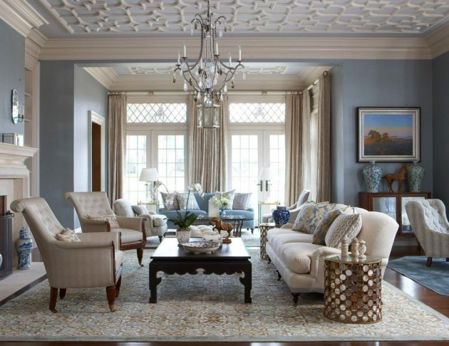 20 Fascinating Ideas For Decorating Elegant Living Room