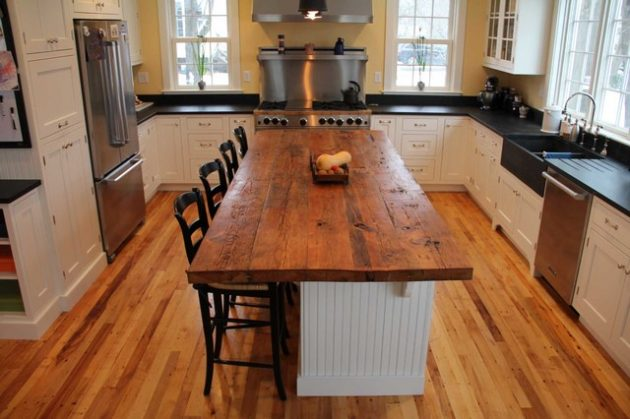 countertop kitchen wood reclaimed charming source