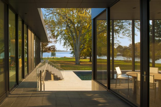 Tred Avon River House by Robert M. Gurney Architect in Easton, USA