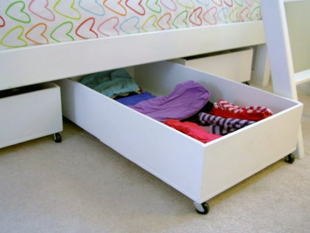 17 Most Creative Ideas To Make Stylish DIY Underbed Storage Drawers