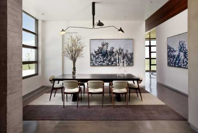 17 Divine Dining Room Designs With Concrete Flooring