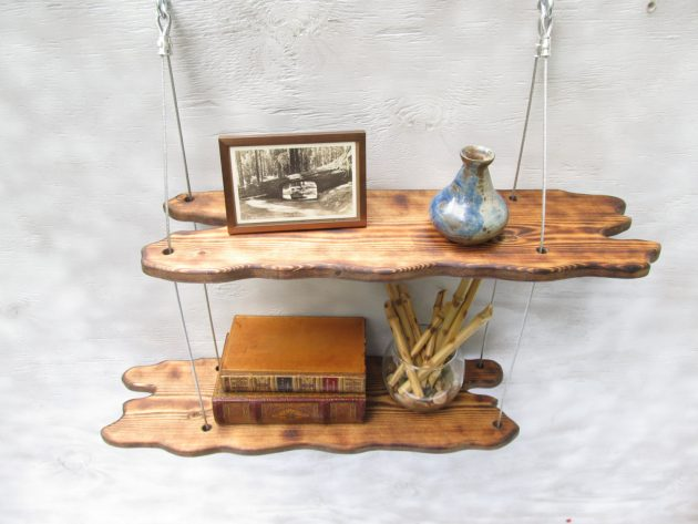 16 Captivating Handmade Wooden Shelf Designs That Will Admire You