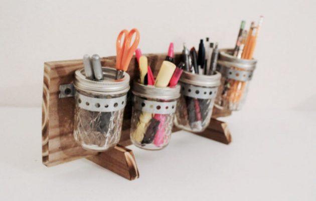 15 Amazing Handmade Mason Jar Organization Ideas That Can Help You
