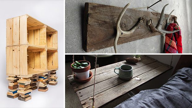 15 Eye-Catching Reclaimed Wood Furniture Designs