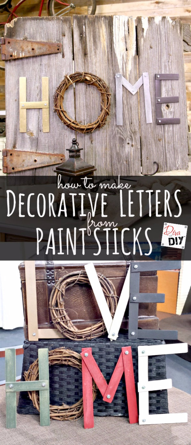 15 Fun And Easy Diy Paint Stick Ideas To Spice Up Your