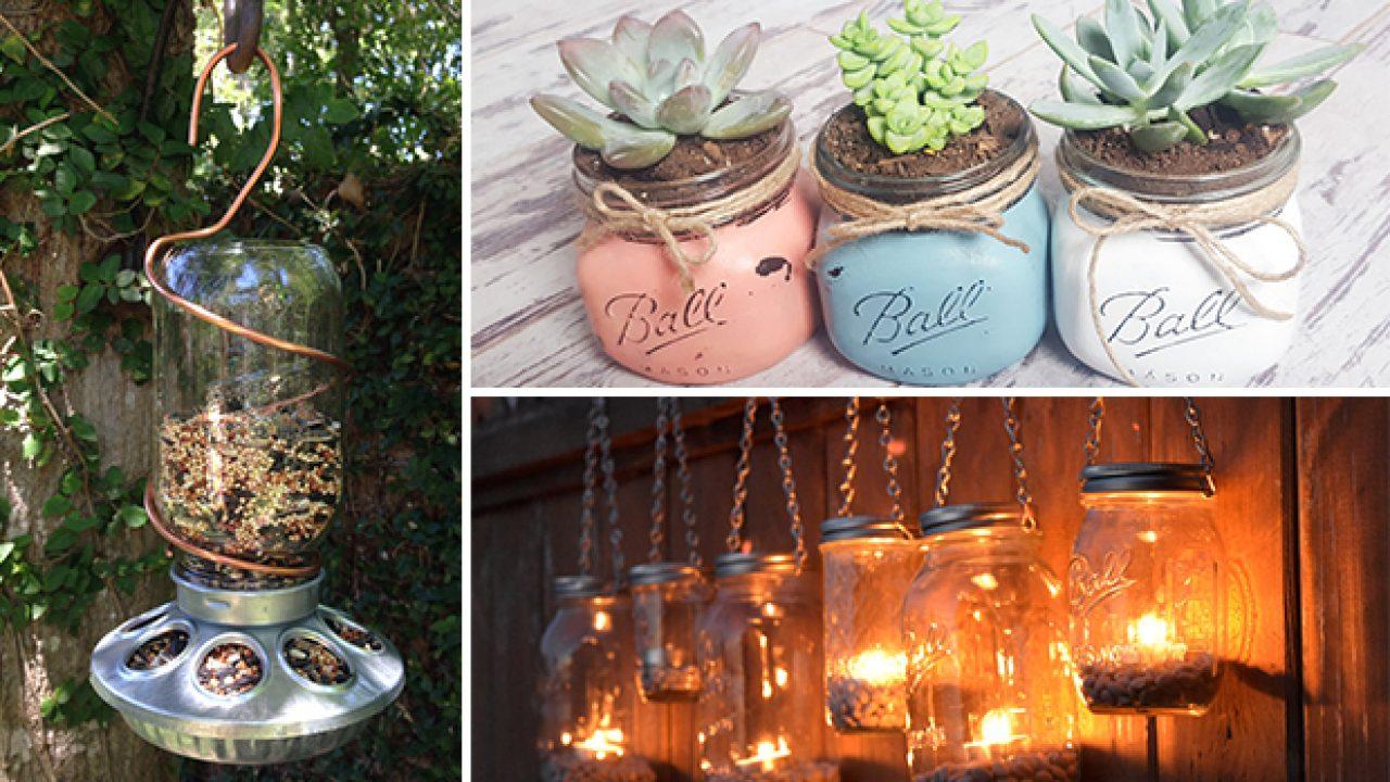 15 Incredible Handmade Mason Jar Ideas For Your Garden And ...