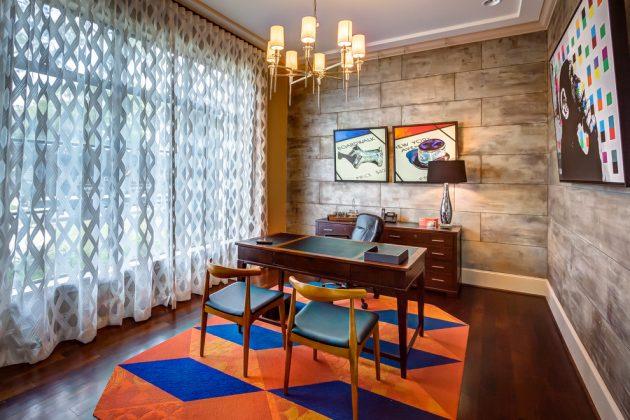 15 Inspirational Mid-Century Modern Home Office Designs