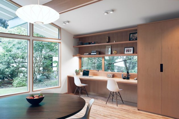15 inspirational mid century modern home office designs - Mid Century Modern Home Office