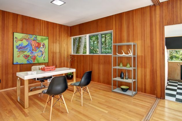 15 Inspirational Mid Century Modern Home Office Designs