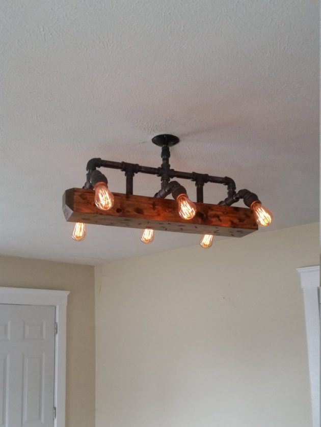 Reclaimed Wood Wall Sconce
