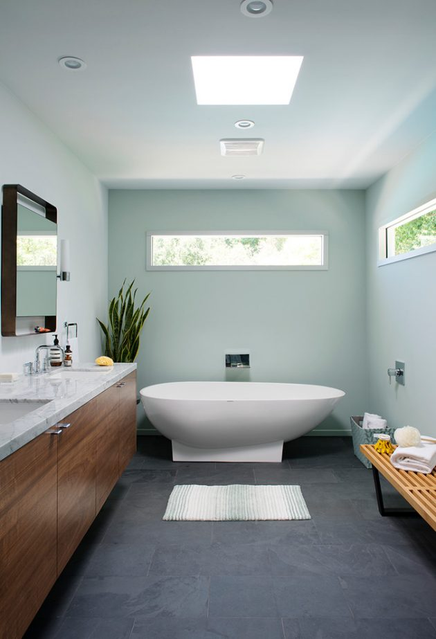 16 Inspirational Mid Century Modern Bathroom Designs
