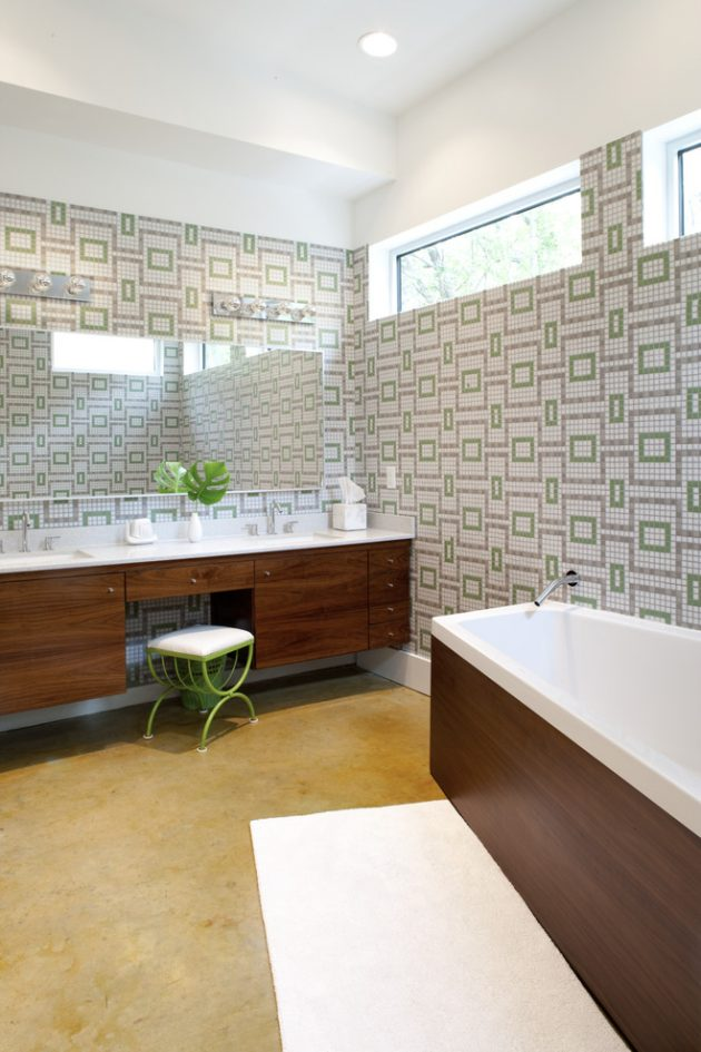 Amazing 16 Inspirational Mid Century Modern Bathroom Designs Inspirational Interior Design Netriciaus