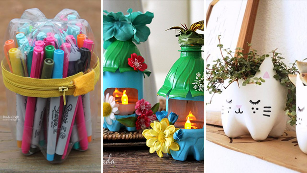crafts with plastic water bottles