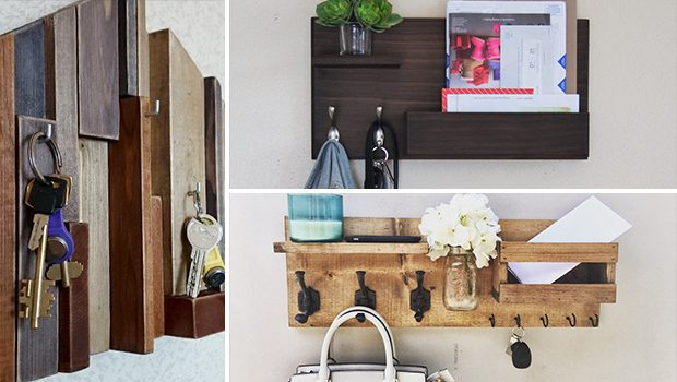 17 Practical Handmade Entryway Organizer Designs For Your Hallway