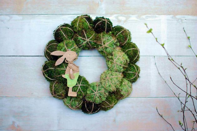 15 Charming Handmade Easter Wreath Designs For The Upcoming Holiday