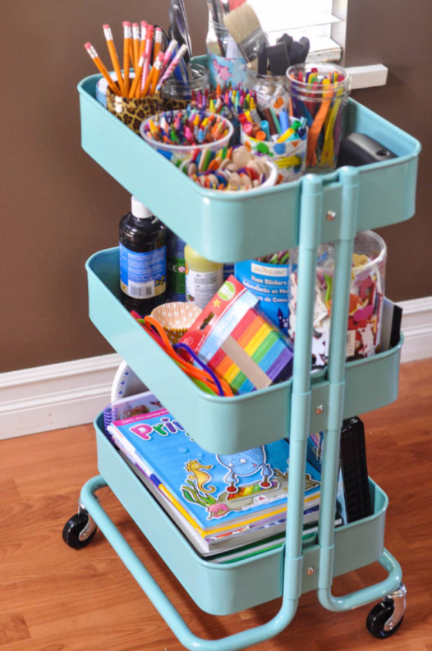 15 Creative DIY Organizing Ideas For Your Kids Room