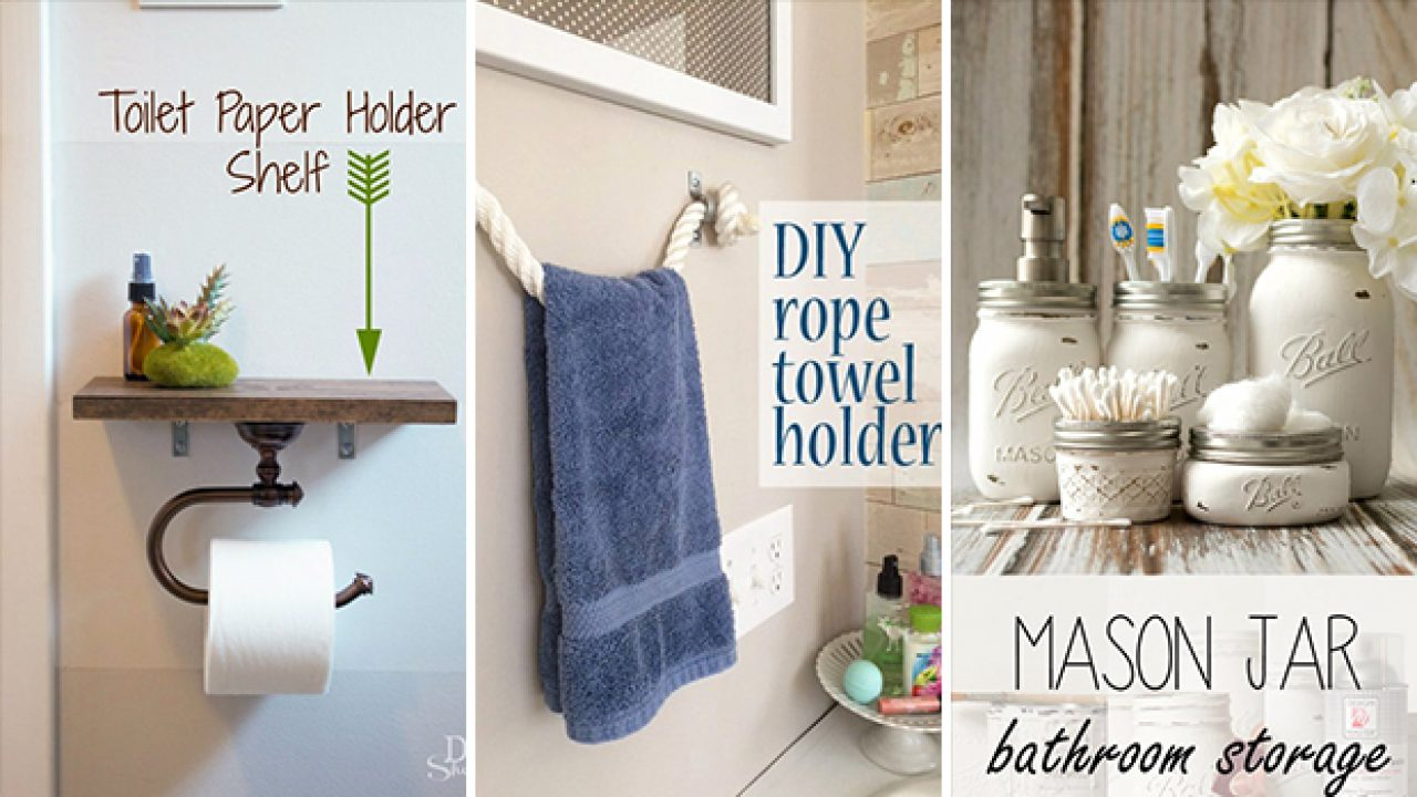 15 Pretty Awesome Diy Ideas For Your Bathroom S Decor