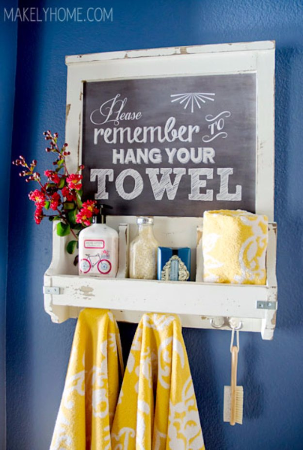15 Pretty Awesome DIY Ideas For Your Bathrooms Decor