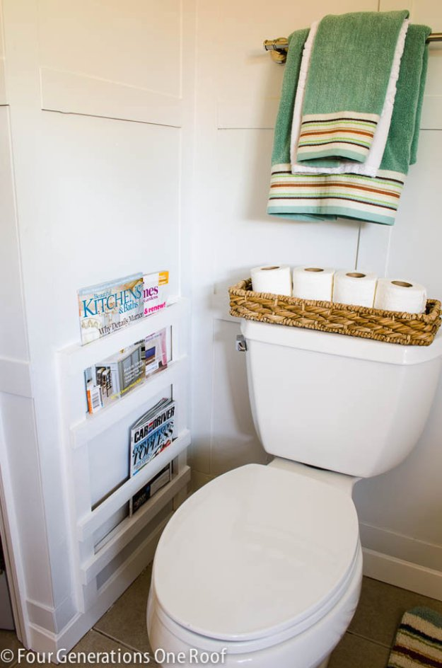 Guest Bathroom Basket Decor